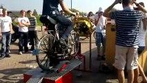 fiets op testbank!  110kmh