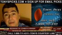 Dallas Cowboys vs. Washington Redskins Pick Predicti6n NFL Pro Football Odds Preview 10-13-2013
