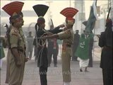 Perfectly synchronized foot march by the two Nations: India and Pakistan, Wagah Border