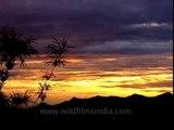 Marvellous colour of twilight at dusk