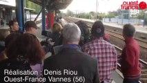 Tournage d'un téléfilm en gare de Vannes - Tournage