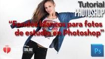 Fondo blanco puro para fotografía en estudio con Photoshop
