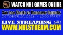 Watch San Jose Sharks vs Vancouver Canucks Live Streaming Game Online