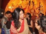 Sushmita Sen Celebrates Durga Puja
