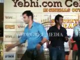 Hot sexy Cute Alia Bhatt with Sidharth Malhotra and Varun Dhawan promotion of Student Of The Year