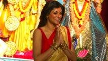 Sushmita Sen Celebrates Durga Puja 2013