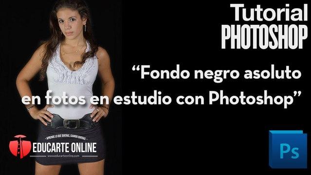 Fondo negro absoluto para fotografía en estudio con Photoshop
