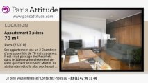 Appartement 2 Chambres à louer - Canal St Martin, Paris - Ref. 3959