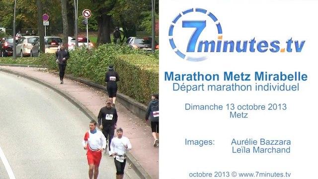 Marathon Individuel Départ - Marathon Metz Mirabelle 2013