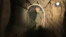 Tsahal dévoile les images d'un tunnel entre Gaza et Israël