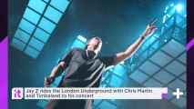Jay Z Rides The London Underground With Chris Martin And Timbaland To His Concert