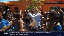 Valérie Trierweiler danse avec les enfants en Afrique
