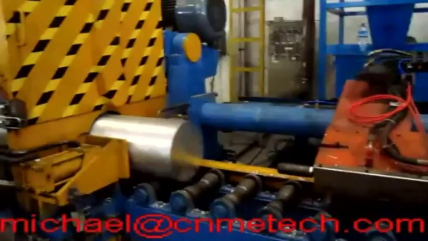 sawing machines for big diameter aluminum billets with date/logo marking system