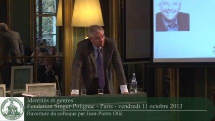 Jean-Pierre Olié - Ouverture du colloque