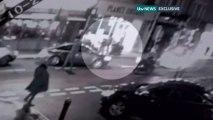 CCTV footage shows west London anti-terror arrest