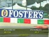 F1 Suzuka 2001 - Michael Schumacher`s all 3 epic qualifying laps!