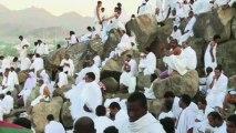 La Mecque : les pèlerins rassemblés sur le Mont Arafat