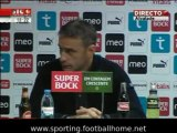 Conferência de Imprensa sobre a demissão de Paulo Bento a 06 de Novembro de 2009