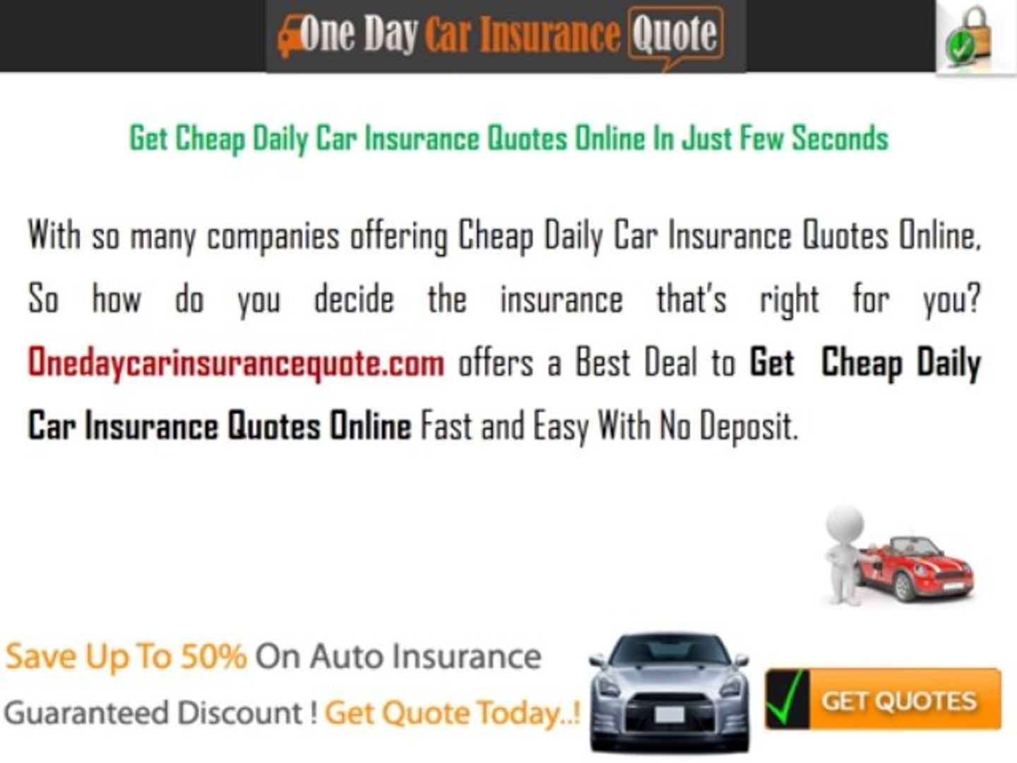 Get Car Insurance Quotes >> Daily Car Insurance Quotes