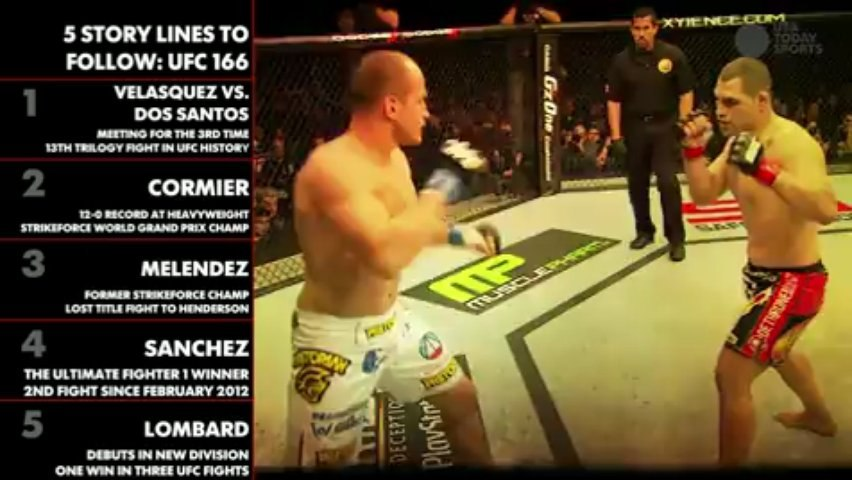 5 STORYLINES TO FOLLOW: UFC 166 - video dailymotion