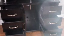 "Home Design Outlet Center BW-700 42"" Espresso Bathroom Vanity   Clear Glass"