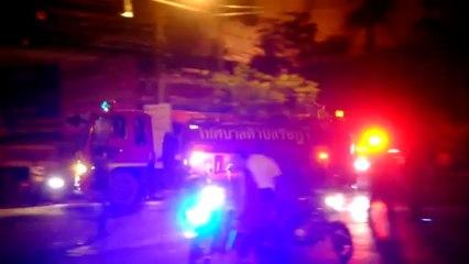 Phuket (Thailande) 16/10 2013 Violent incendie à Phuket Town