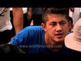 Men's arm wrestling competition - At the Naga Fest'13