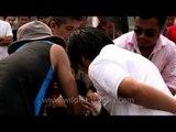 Naga youth enjoying arm wrestling - At the Naga Fest'13