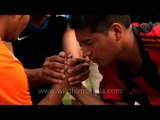 Tough! arm wrestling competition : At the 50th Naga Fest'13