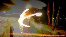 Best Fire Juggler timelapse From Thailand - Chronophotographie de jongleurs de feu en thailande