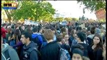 Les lycéens dans la rue pour protester contre les expulsions d'enfants scolarisés - 17/10