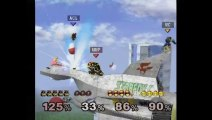 Super Smash Bros. Melee | Melee Gameplay | Part 1 | Nintendo GameCube (GCN) | Corneria, Poor Bowser