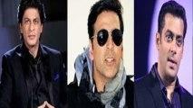 Akshay Kumar To Cast Salman & Shahrukh Together In His Film ?