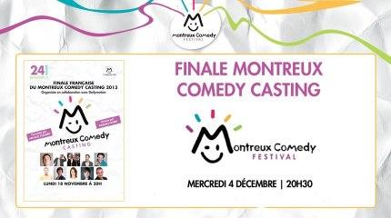 """LIVE : """"Finale Montreux Comedy Casting"""""""