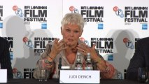 Dame Judi Dench On Red Carpet And Talking About Her New Film