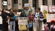 Organizações de defesa aos imigrantes ilegais protestam em Washington.