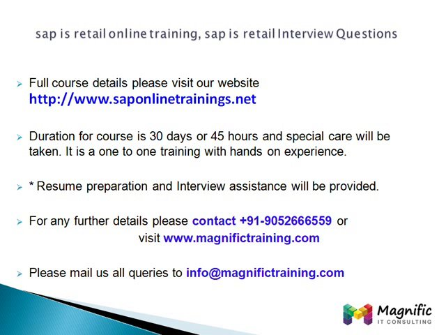 sap is retail online training, sap is retail Interview Questions