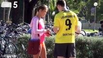 Insolite : quand un sosie de Lewandowski drague dans la rue...