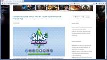 Download The Sims 3 Into the Future Expansion Pack Free PC - Tutorial
