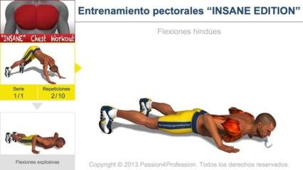 """Entrenamiento pectorales """"INSANE EDITION"""""""
