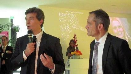 A. Montebourg visite le siège de Schneider Electric - Rueil-Malmaison
