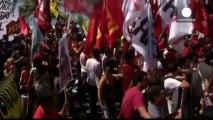 Violents heurts devant le siège de Petrobas