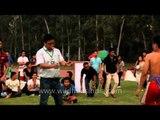 Delhi getting a glance of Naga wrestling at the 50th Naga Fest'13