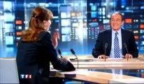 Carla Bruni félicitée par Jean-Pierre Pernaut au JT de TF1
