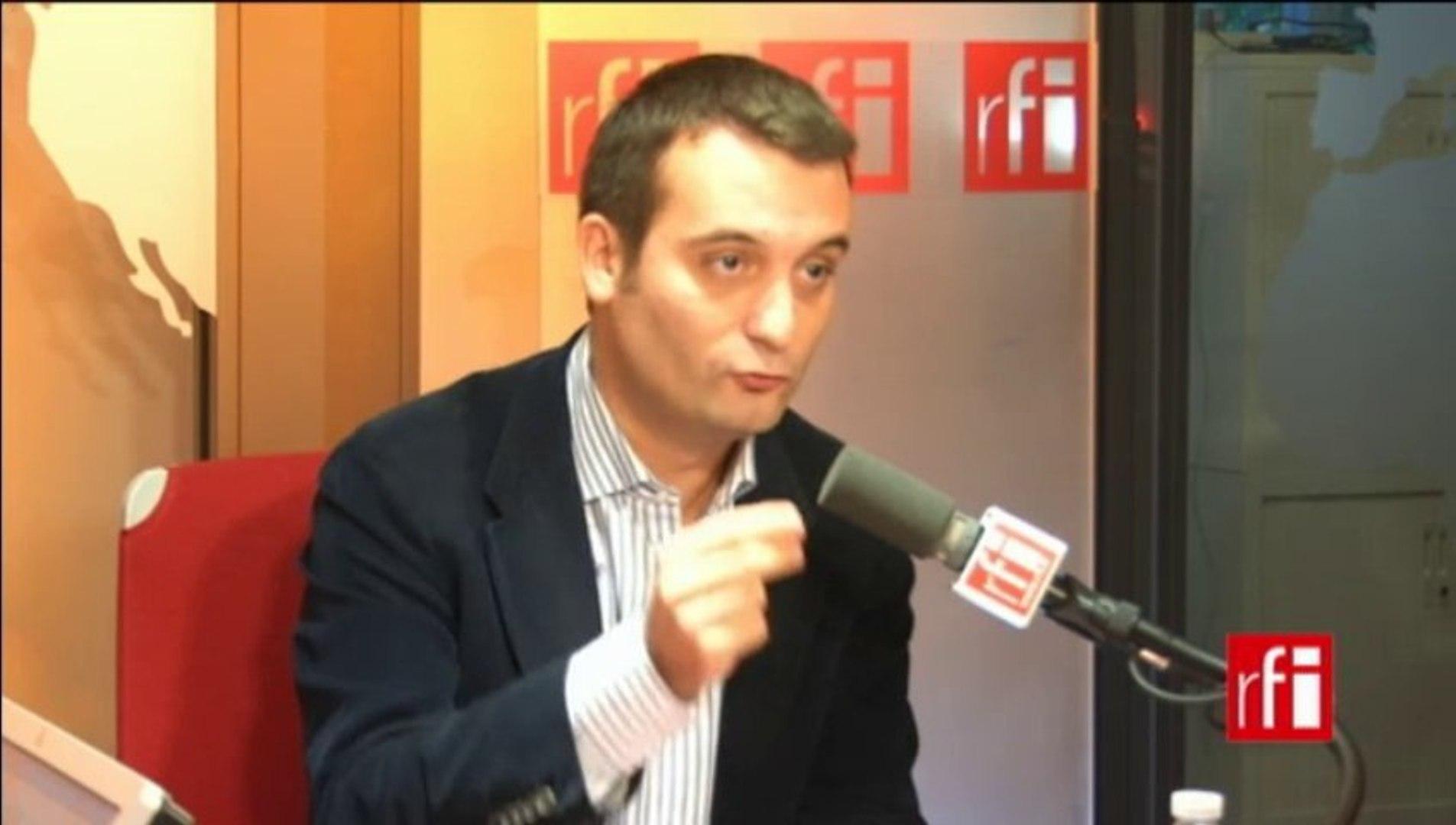 Florian Philippot, vice-président du Front National (FN) en charge de la stratégie et de la communic