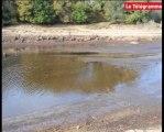 Lac du Drennec. Le niveau le plus bas de son histoire