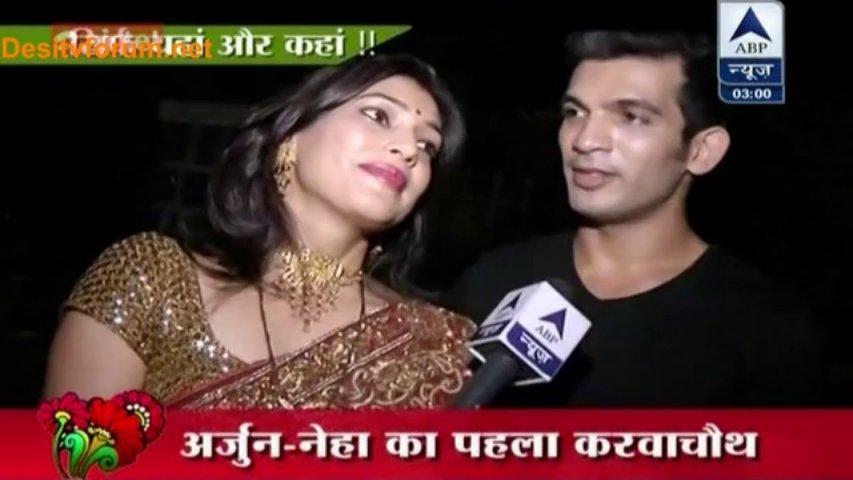 Arjun Bijlani-Neha Bijlani KarvaChauth Spl SBS Seg[23-10-2013]