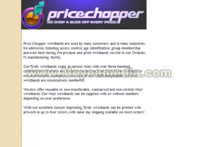 Price Chopper Wristbands – custom vinyl wristbands