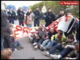 Morlaix. Manifestation pacifique pour la venue de Nicolas Sarkozy