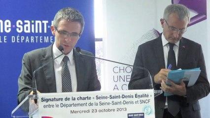 """Le 93 et la SCNF signent une charte """"Seine-Saint-Denis Égalite"""""""